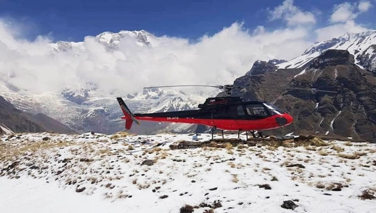 A Day Helicopter Tour to Annapurna Base Camp